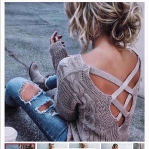 VICI City Girl Cable Knit Sweater Tan - M/L